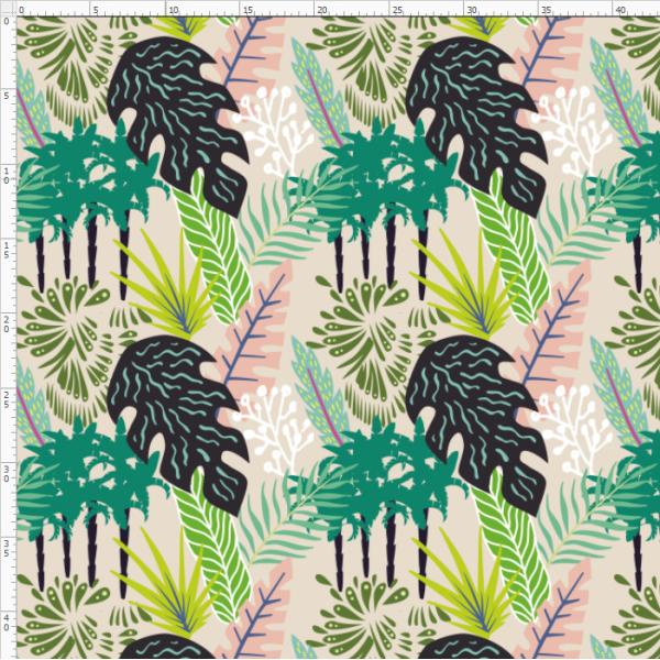 12-134 rainforest leaves