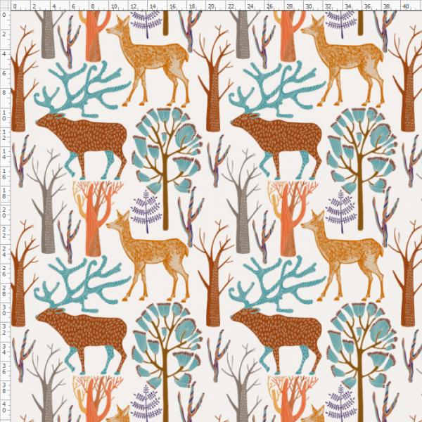 2-117 Giraffe&Deer