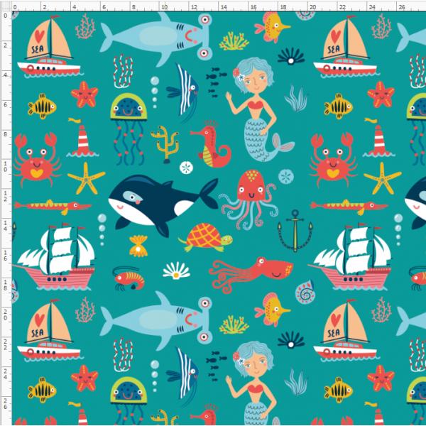 7-14 sea marine life