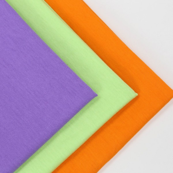 Retail solid cotton jersey fabric in stock