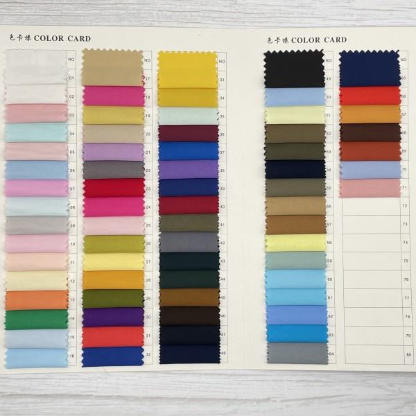 Wholesale solid cotton woven poplin fabric in stoc...