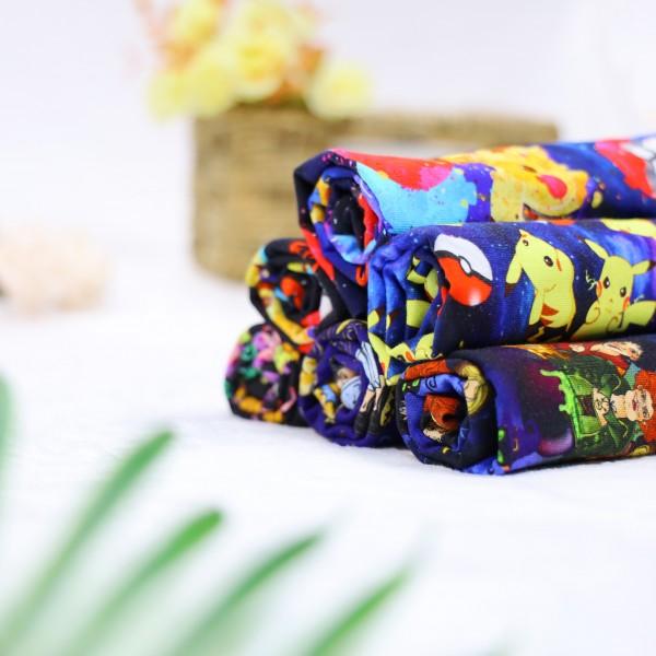 Bamboo lycra jersey custom printed fabric 240gsm