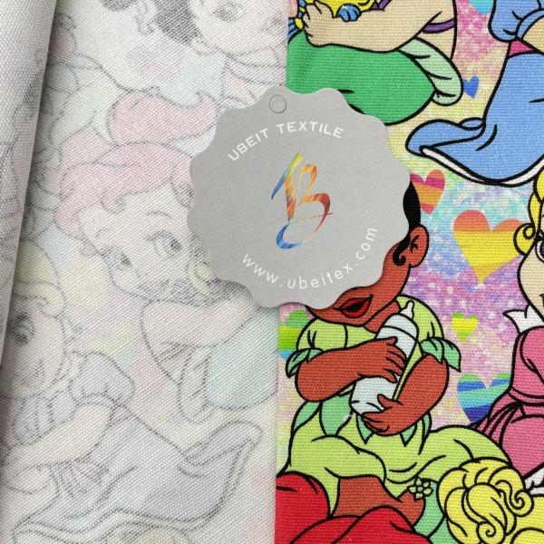 Cotton canvas custom printed fabric