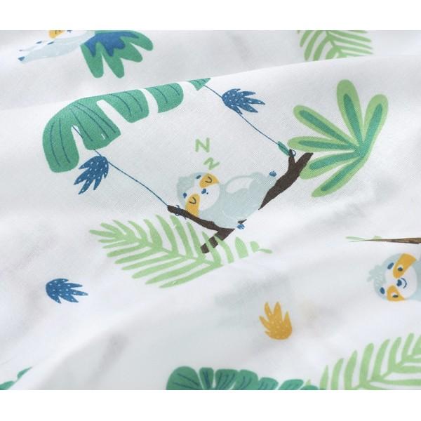 Muslin double gauze custom printed fabric