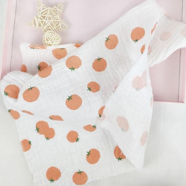 Double gauze muslin custom printed fabric