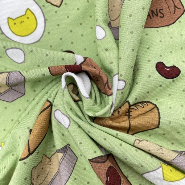 Cotton lycra jersey custom printed fabric 200gsm