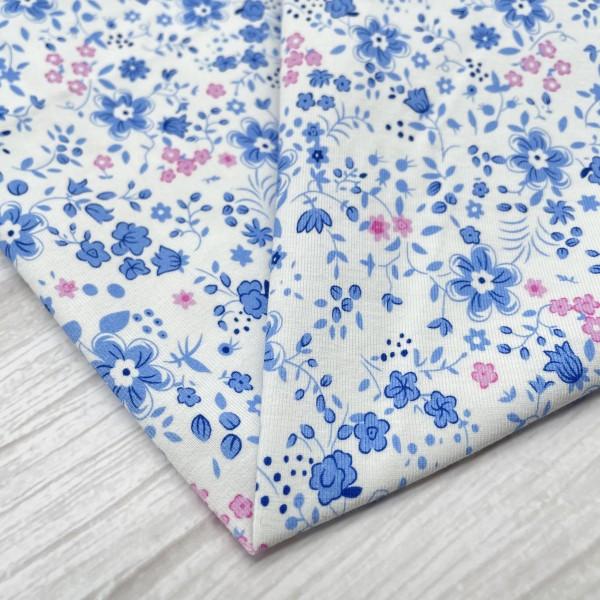 Cotton lycra jersey custom printed fabric 220gsm