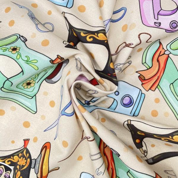 Cotton lycra jersey custom printed fabric 240gsm