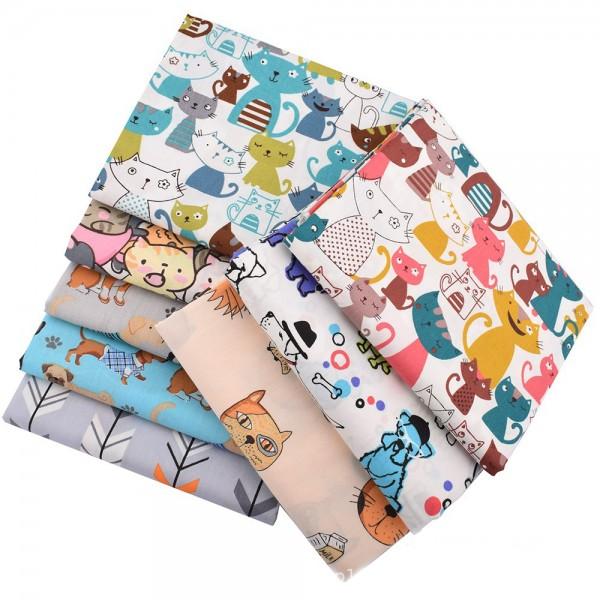 Cotton poplin custom printed fabric
