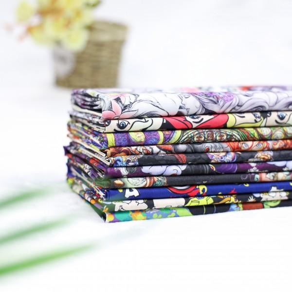 Cotton woven poplin custom printed fabric 40s