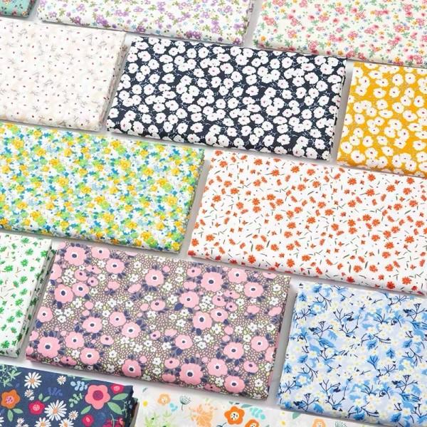 Cotton woven custom printed fabric