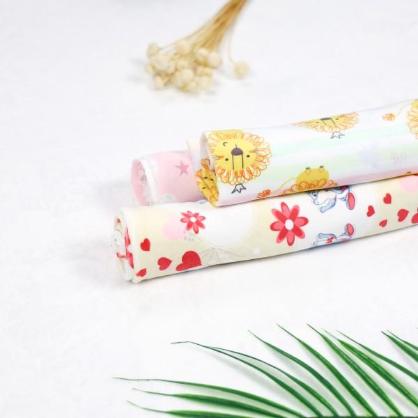 Minky single sided custom printed fabric