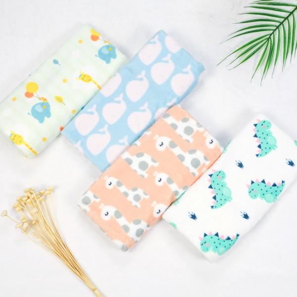 Minky double sided custom printed fabric