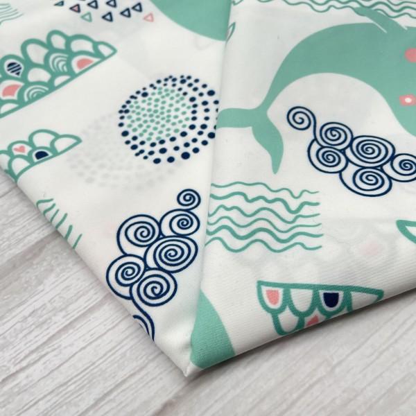 Peach skin custom printed fabric twill