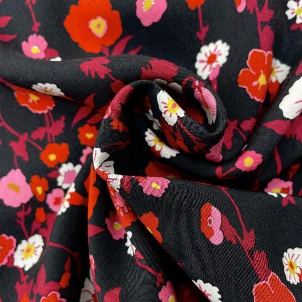 Rayon challis custom printed fabric 45s